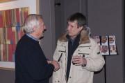 Beniamino Bonetto saluta i visitatori della mostra (Ph. Angelo Gaidano)