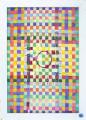 Formato cm. 50 x 70 - Materiali:  strisce di tessuto per tendaggi